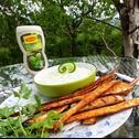 Pietruszka z grilla z sosen ziołowo - ogórkowym