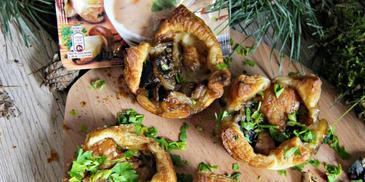 Minibabeczki grzybowe z camembertem