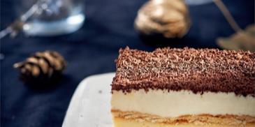 Ciasto karmelowo-budyniowe na herbatnikach