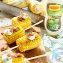 Grillowana kolba kukurydzy z boczkiem, ziołami i sosem ziołowym Winiary