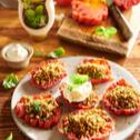 Grillowany stek z pomidora bawole serce z sosem ziołowym Winiary