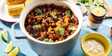 Chili con carne - meksykańskie danie jednogarnkowe