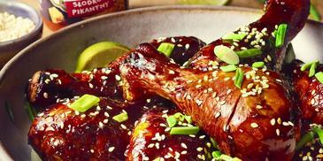 Pałki z kurczaka w sosie słodko-pikantnym