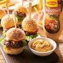 Miniburgery z domowymi bułkami