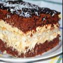 Placek czekoladowy z wkładką kokosową
