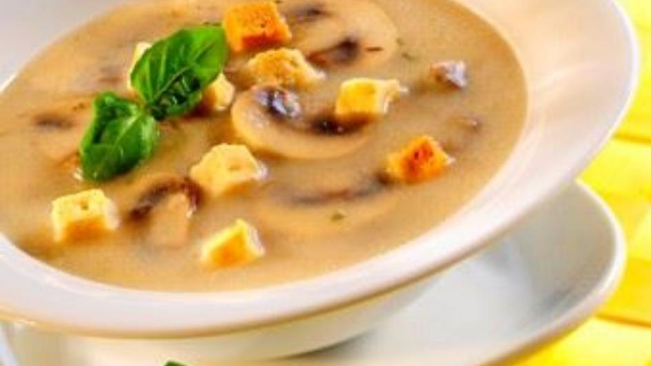 Zupa grzybowo-serowa