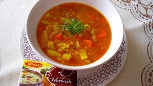 Zupa z czerwonej soczewicy i pomidorów