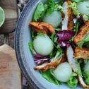 Sałatka z grillowanym kurczakiem i melonem