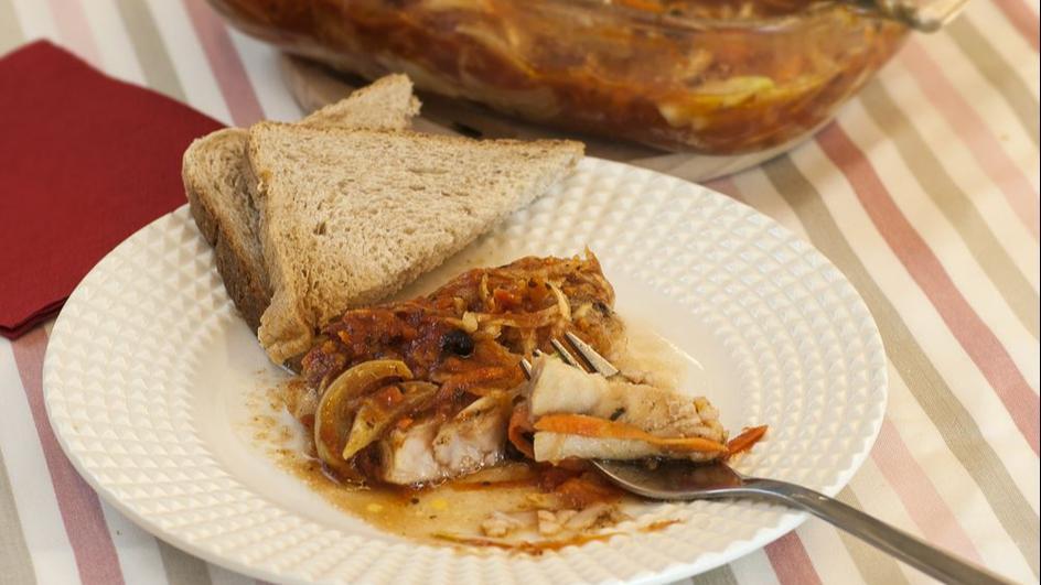 Ryba po grecku z piekarnika