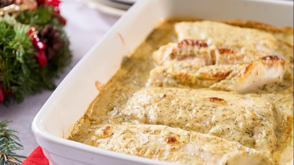 Ryba w sosie śmietanowo-koperkowym