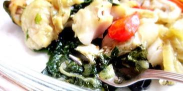 Dorsz w warzywach pieczony w folii