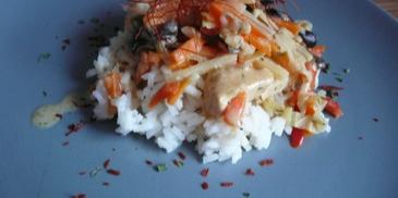Danie chińskie z ryżem