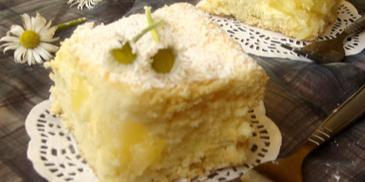 Ciasto z ananasową masą