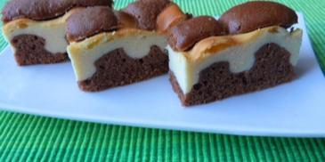 Kakaowe ciasto z waniliowym serem