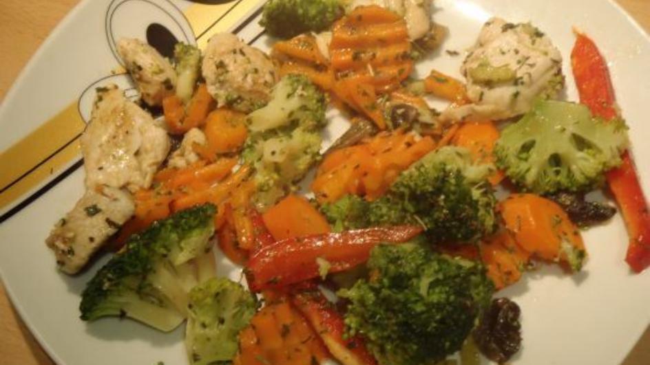 Domowe warzywa z patelni z mięsem