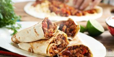 Klasyczne meksykańskie burrito