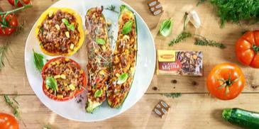 Warzywa nadziewane mięsnym bukietem smaków