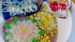Kwiaty kokosowe 3d w galaretce przezroczystej Winiary