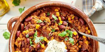Placki ziemniaczane z mięsem mielonym (chili con carne)