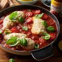 Piersi z kurczaka zapiekane w pomidorowym sosie