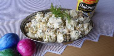 Sałatka z tortellinii i kaszą kuskus