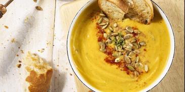 Zupa krem z dyni z pestkami