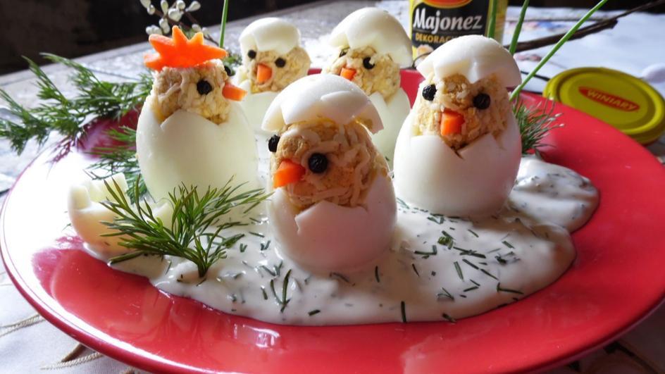 Kurczaki w sosie majonezowo - jogurtowym