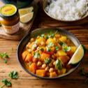 Curry z dyni z batatem i ciecierzycą