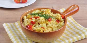 Zapiekanka warzywna z ryżem