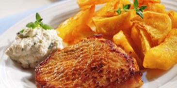 Kotlet wieprzowy z ziemniakami
