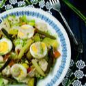 Sałatka z sosem z anchois