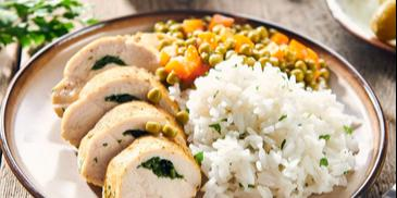 Kurczak gotowany na parze