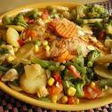 Kurczak z nutą cytryny z brokułami i ryżem
