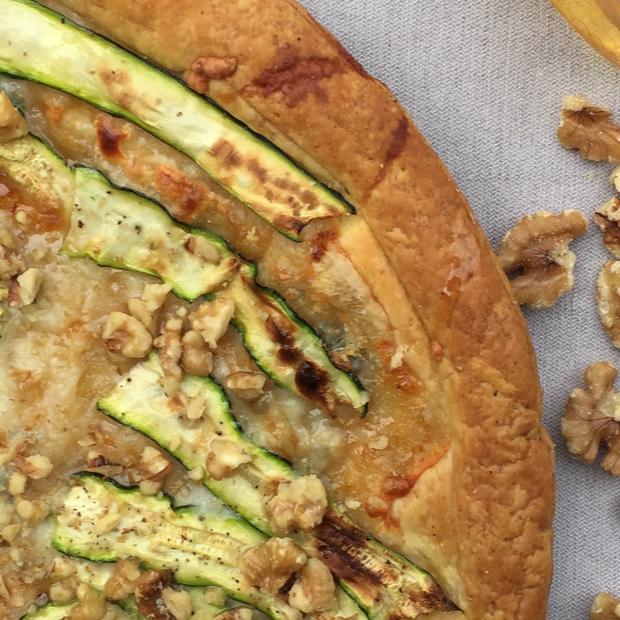 Sfoglia Integrale con Zucchine, Gorgonzola e Noci