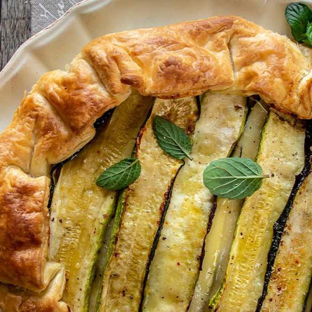 Tortino di zucchine e mozzarella