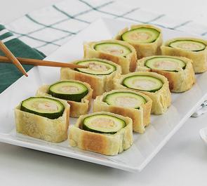 Sushi di sfoglia con zucchine