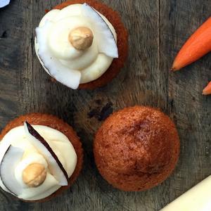 Muffin alla carota con glassa al formaggio