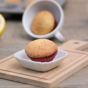 Muffin al limone con semi di papavero