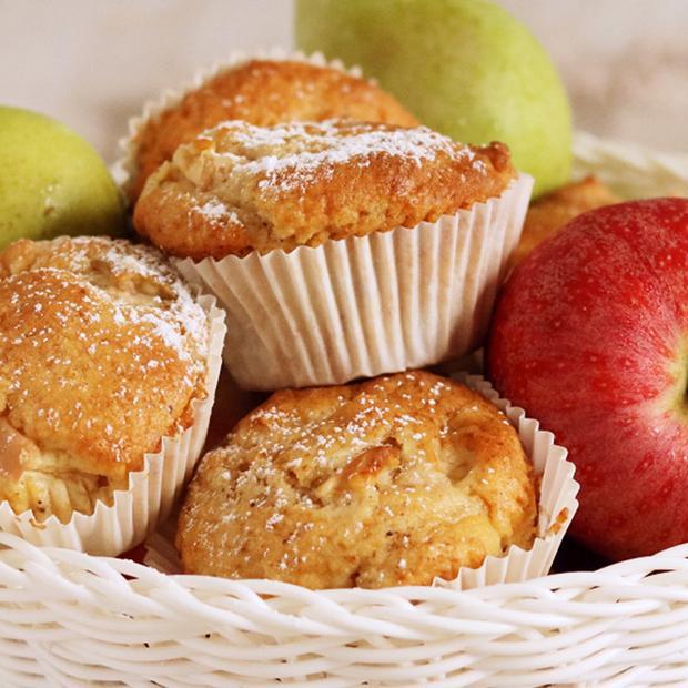 Muffin di torta margherita alle mele