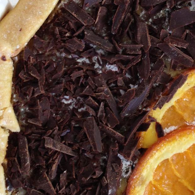 Torta di ricotta, cioccolato e arancia