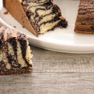 Torta zebrata bicolore