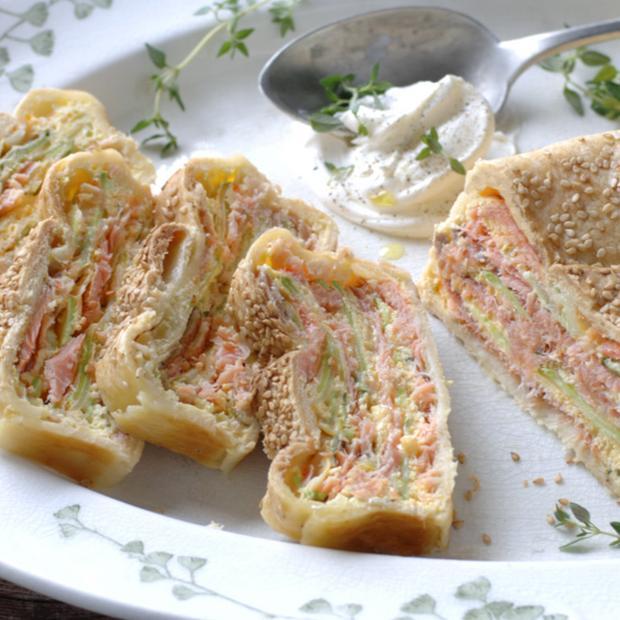 Strudel salmone e zucchine