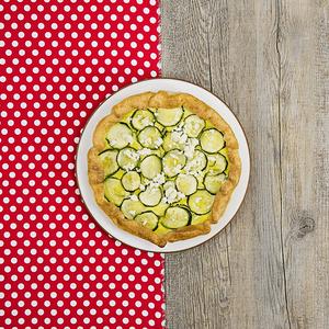 Torta salata zucchine e feta senza glutine