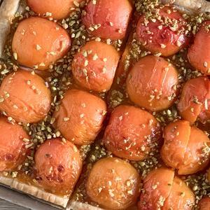 Tarte albicocche e pistacchi