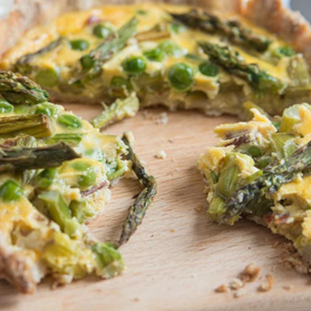 Torta asparagi e piselli