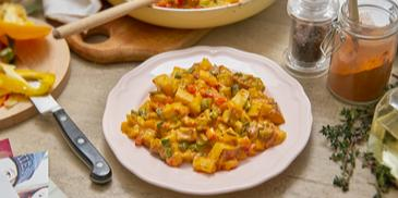 Kartoffel-Paprika-Tofu-Gulasch