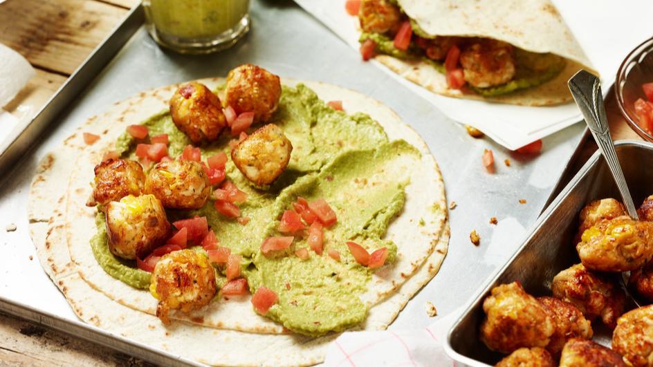 Taco mit Geflügel-Maisklößchen