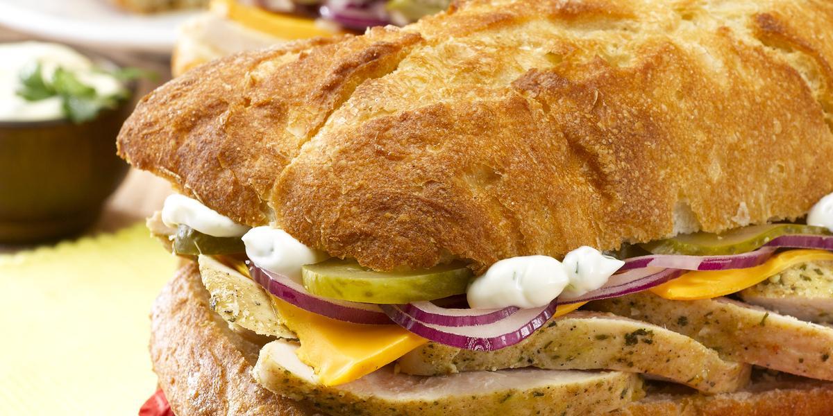 Mini Sandwich de Pollo Estilo Americano