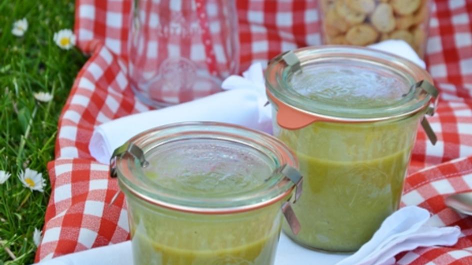 Zupa słoikowa – zupa krem ze szparagów, czyli idziemy na piknik