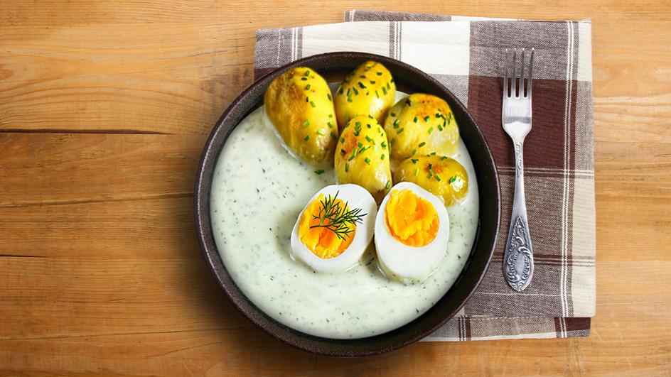 Koprovka s vajíčkem a novými bramborami